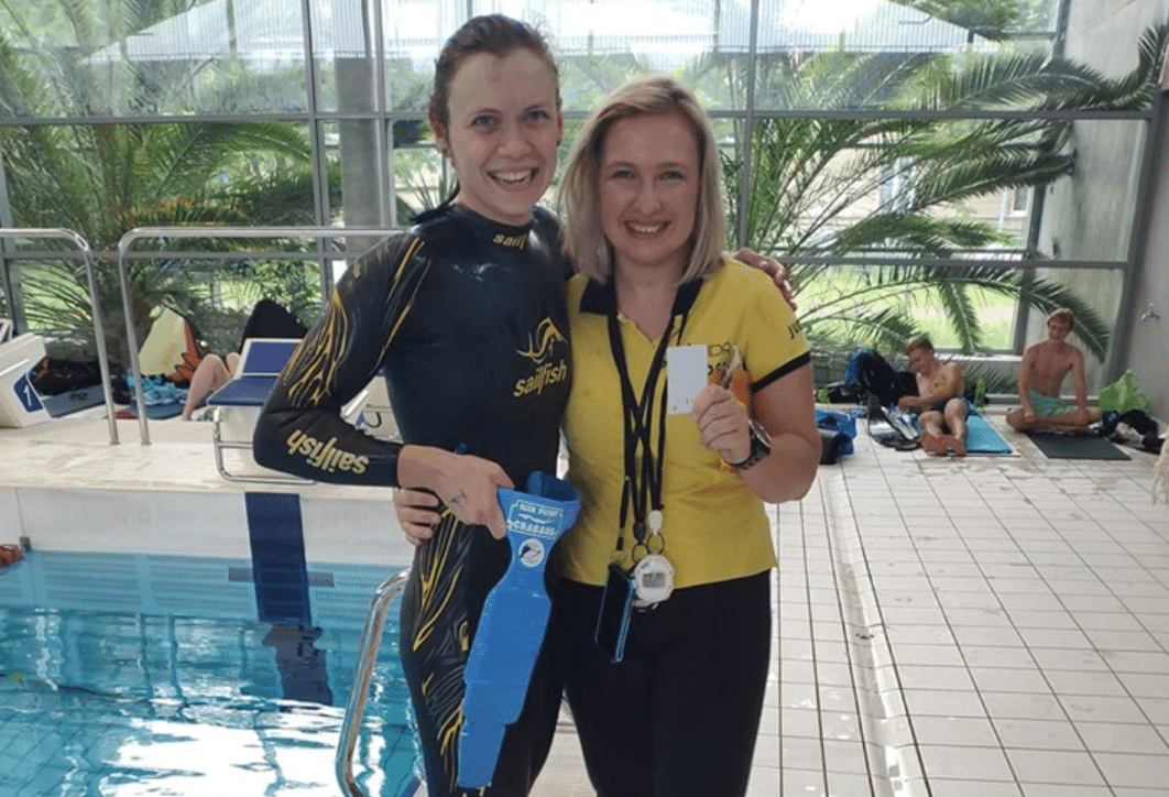 Poland's Agnieszka Kalska Sets New AIDA Pool Freediving Record