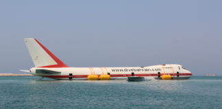 747 Jumbo Jet Converted Into Artificial Reef Off Bahrain (Photo credit: PADI)