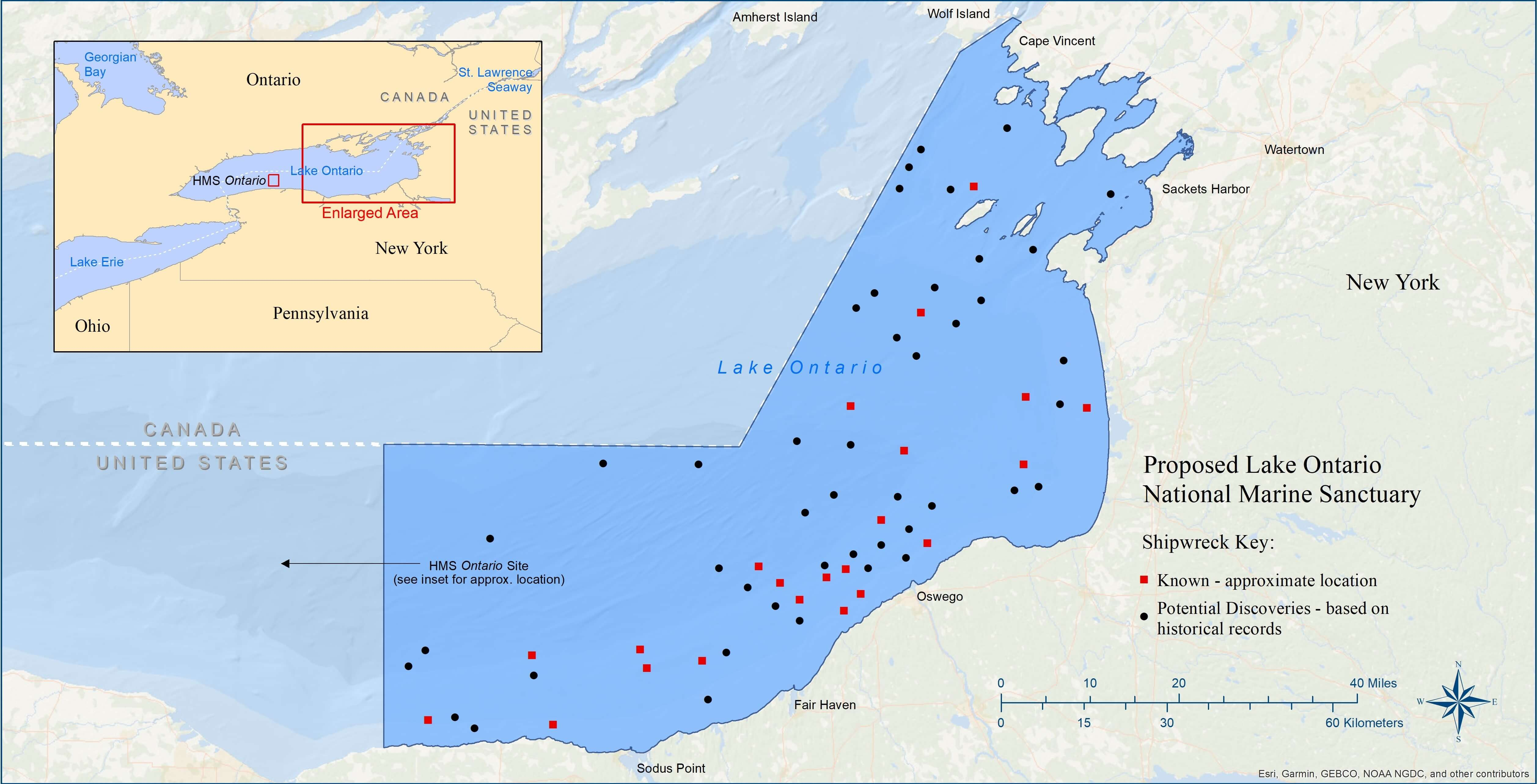 Public Comments Sought For Possible Lake Ontario National Marine Sanctuary