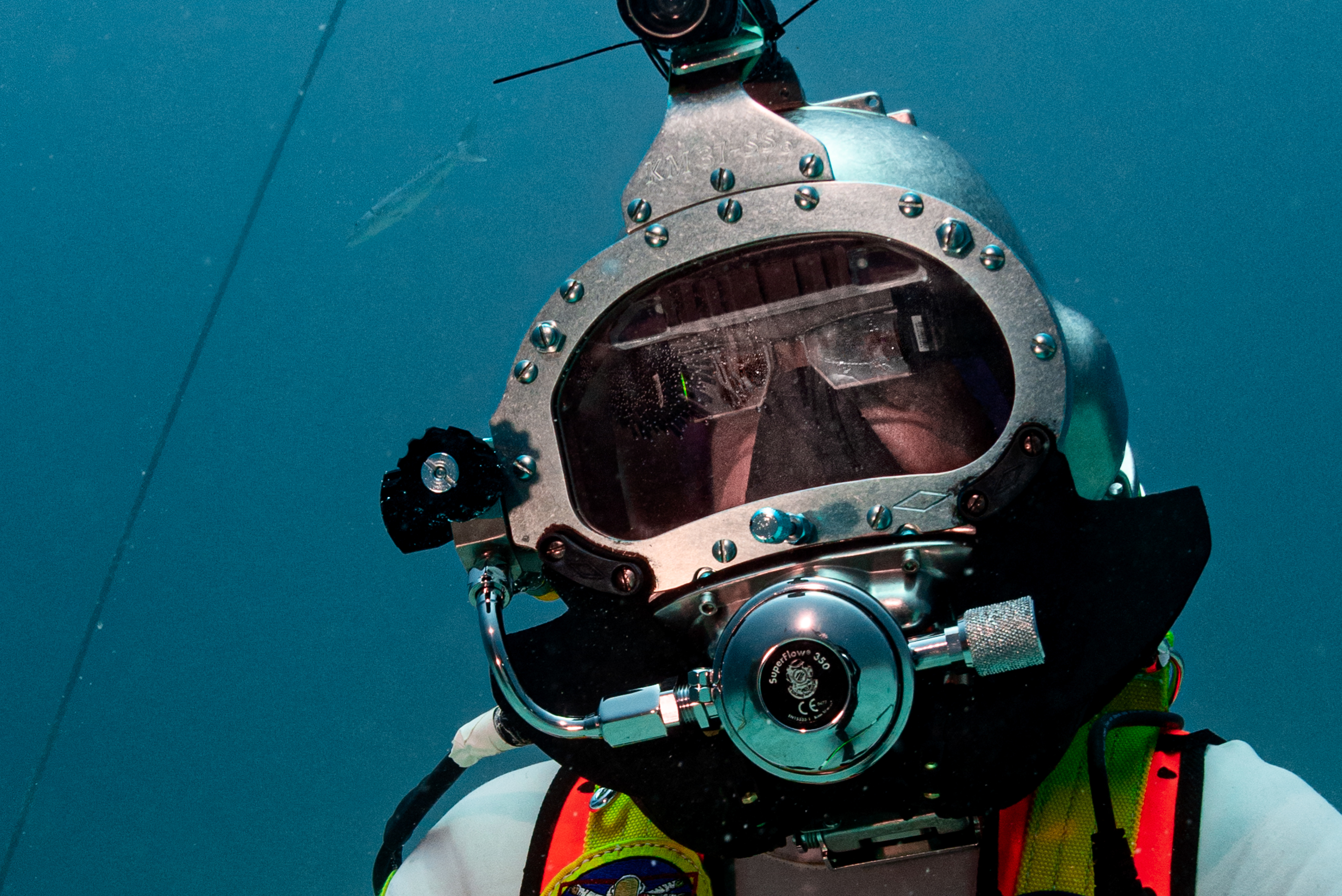 Astronauts Test U.S. Navy Dive Equipment For Use In Space