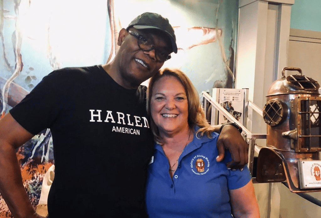 Samuel L. Jackson at the History of Diving Museum
