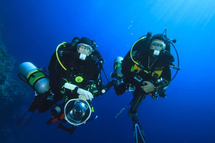 Technical Divers on Rebreathers