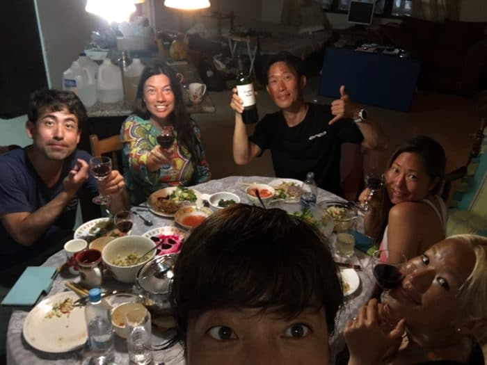 Dinner with the Japanese contingent (photo courtesy of Misuzu Okamoto)