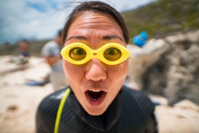 Sayuri funny goggles (photo courtesy of Daan Verhoeven)