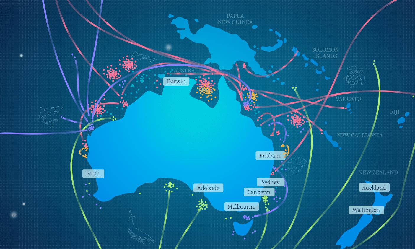 Australia Migration map