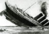 "Sinking of the ocean liner ""Lusitania"" (sketch from the English newspaper, May 1915)"