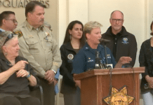U.S. Coast Guard Captain Monica Rochester speaks during a press briefing on the sinking of the dive boat Concepcion (Image Credit: KEYT.com)