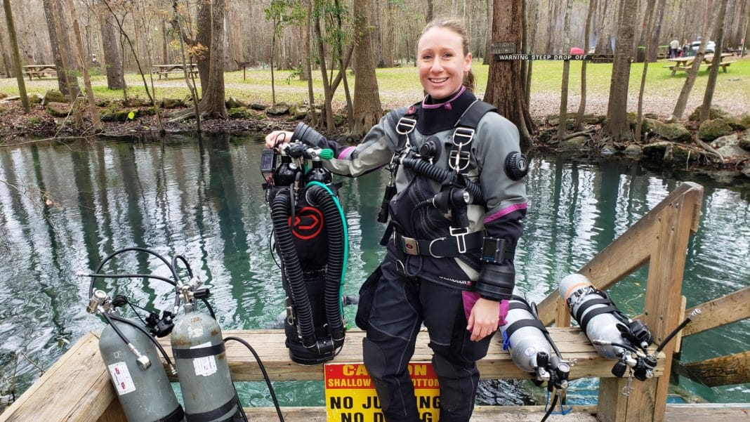 Becky Kagan Schott and her Liberty rebreather