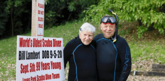 99-Year-Old Diver Sets Record