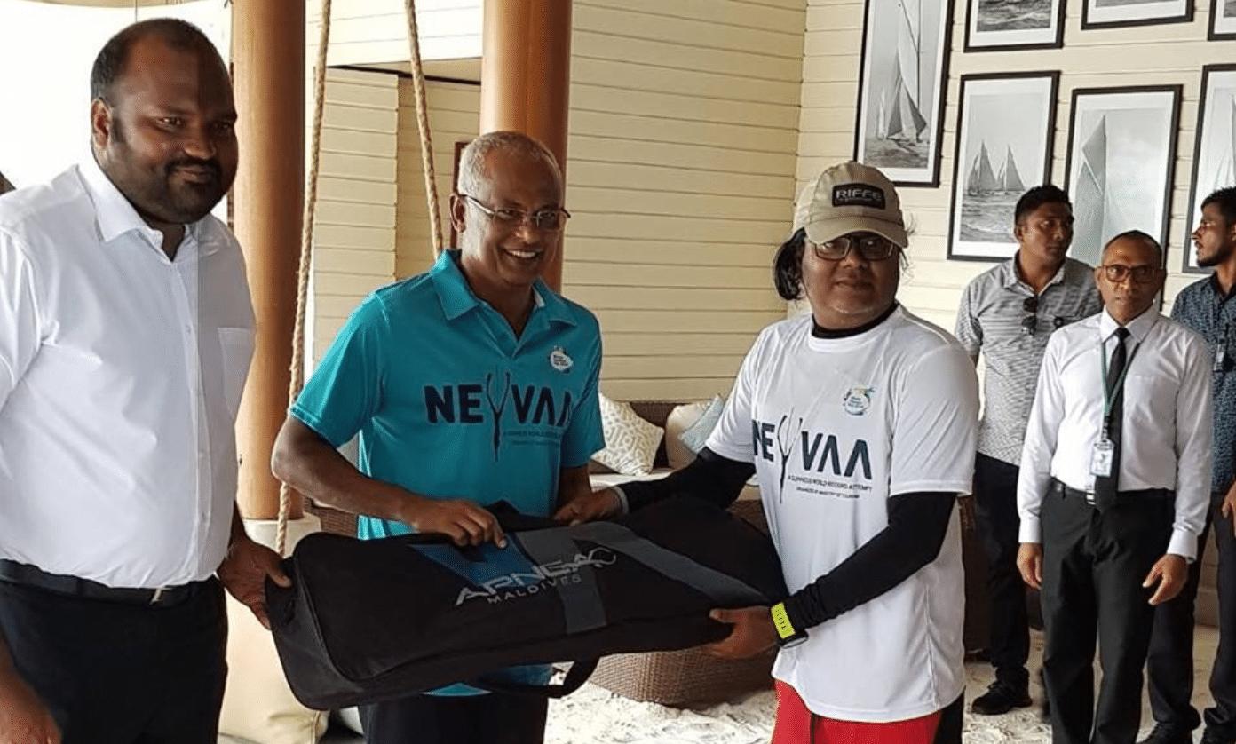Maldives President Ibrahim Mohamed Solih Helps Break Guinness World Record