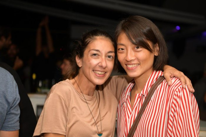 Organizer Nicole Karsera and competitor Chih-in Yeh of Taiwain (photo by Costas Costantinou)