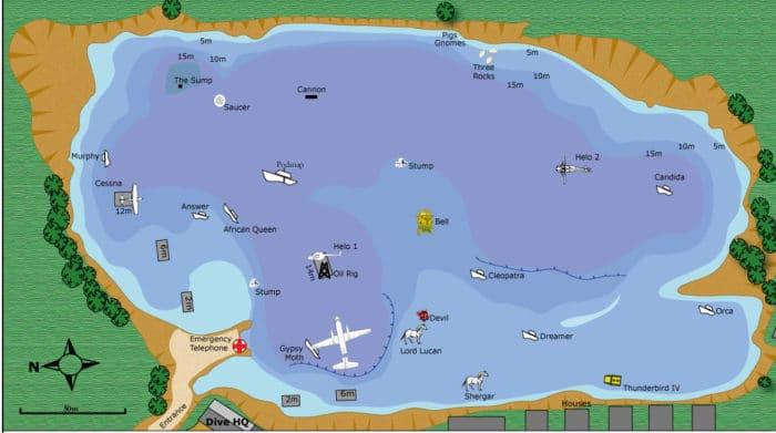 Capernwray Dive Map