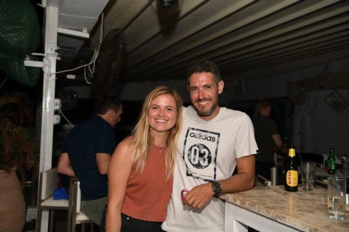 A winning pair -- Nicole Zipfel with organizer Pavlos Kourtellas (photo by Costas Costantinou)