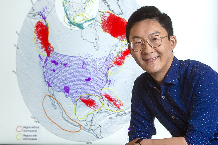 Wenyuan Fan, Stormquakes researcher (Photo credit: FSU)