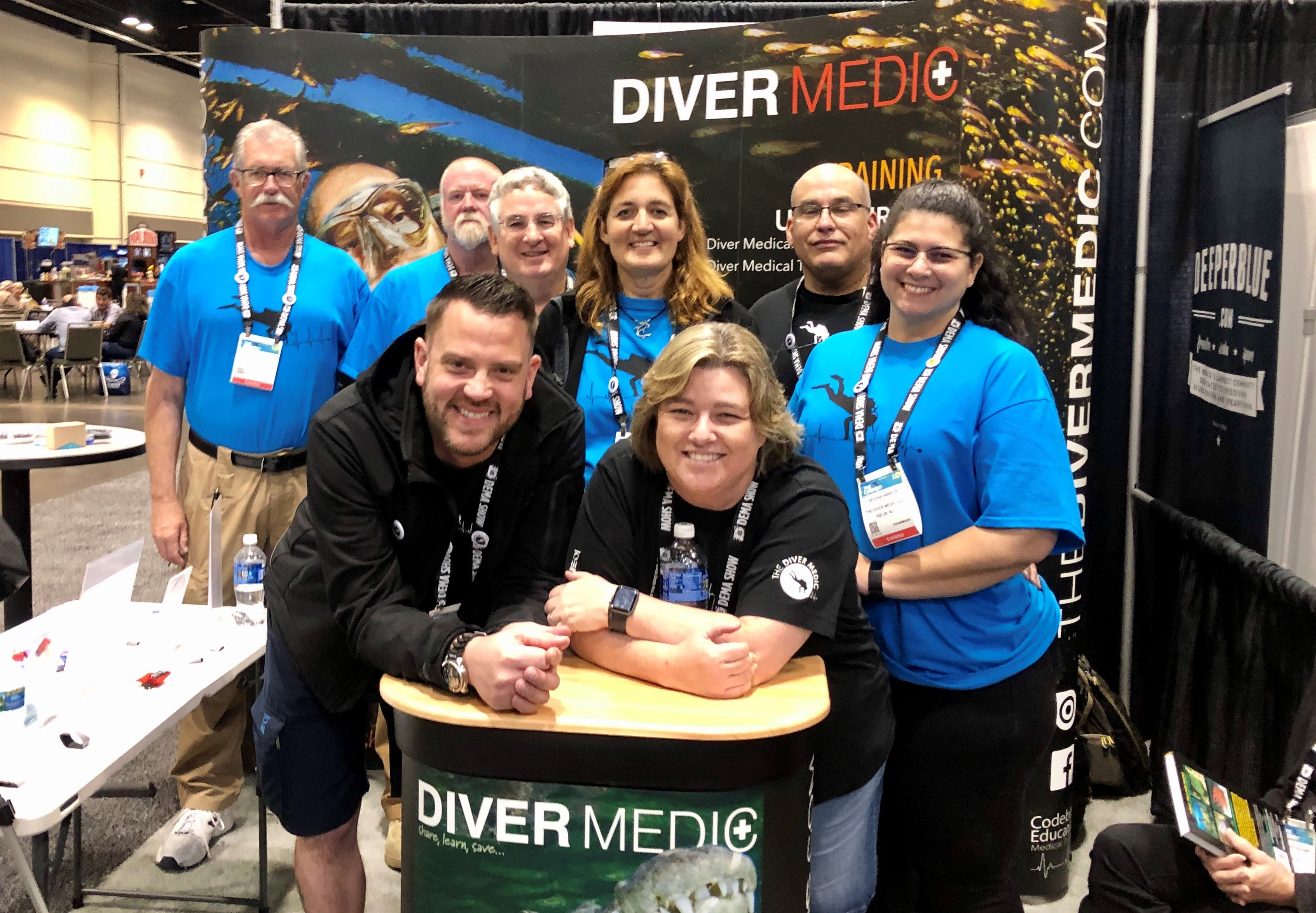 Dema Show 2020.The Diver Medic Showcases Diving Emergency Medical Responder