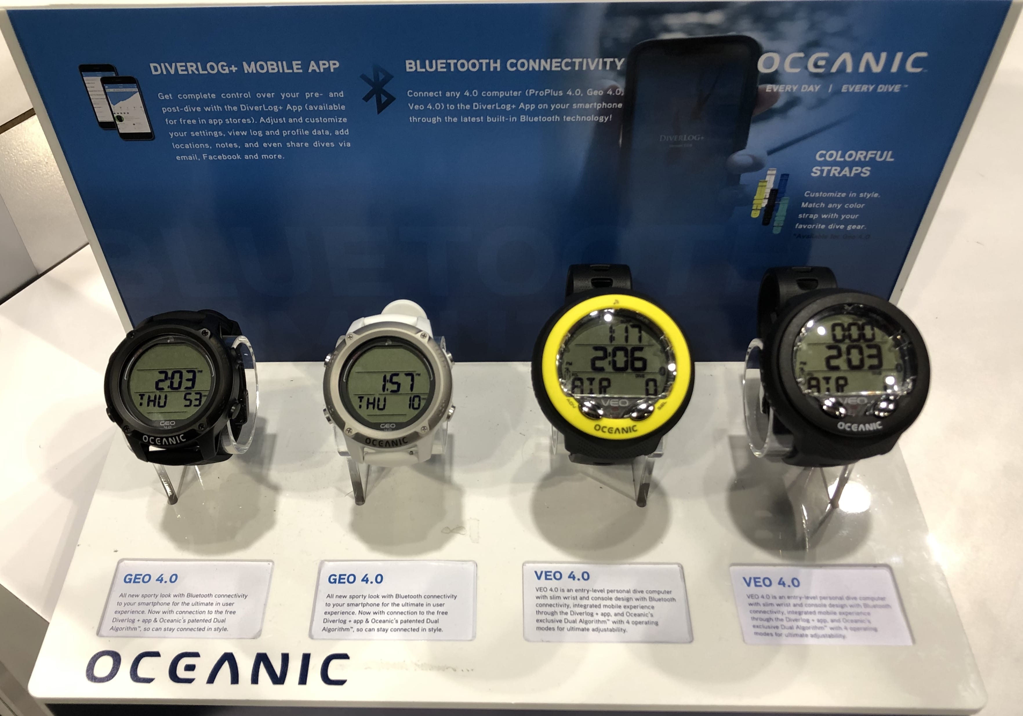 Oceanic's dive computers at DEMA Show 2019