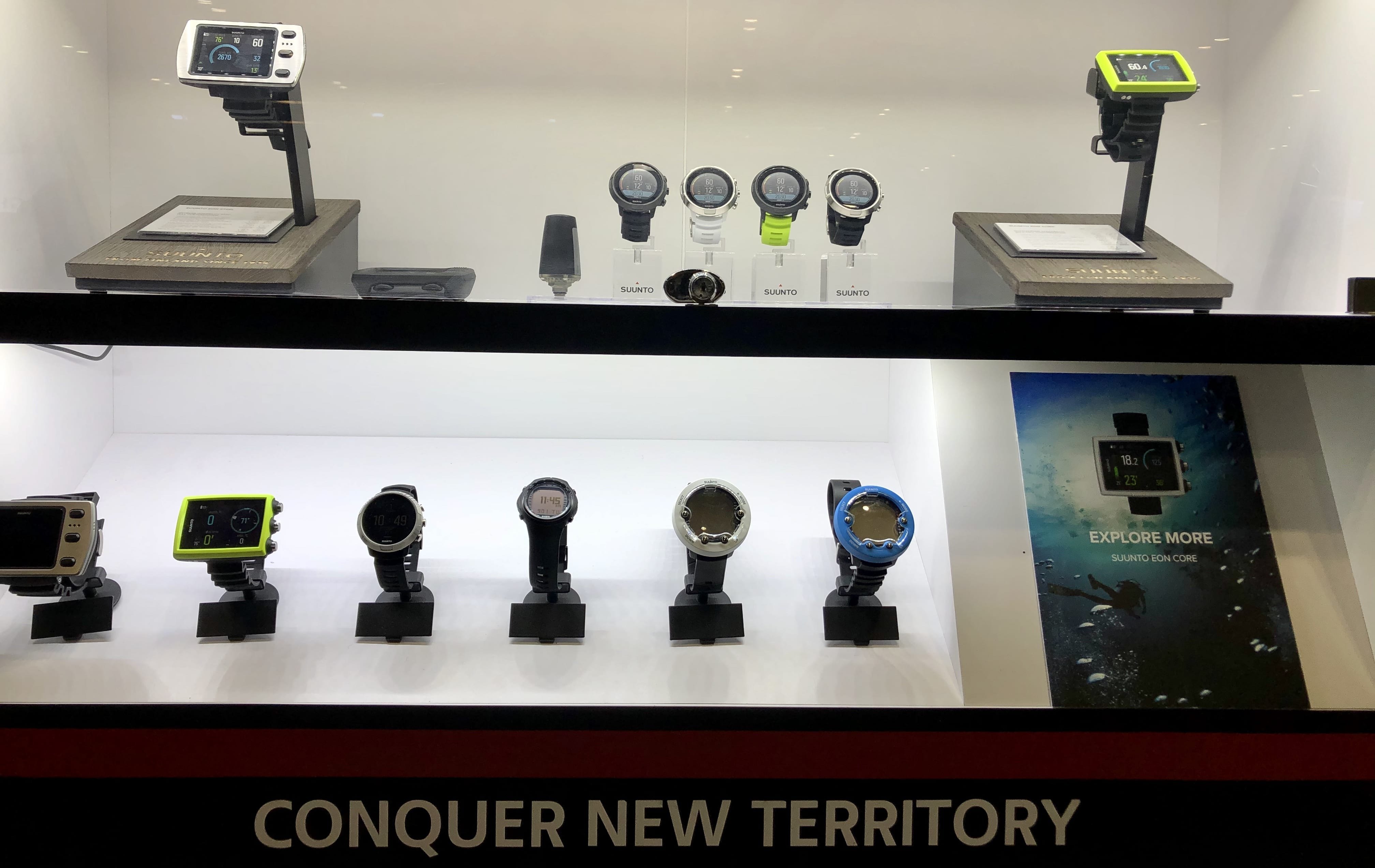 The folks at Suunto are highlighting the full range of the company's dive products this year at DEMA Show, following the launch of the Suunto D5 last year.