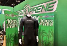Greenprene wetsuit at DEMA