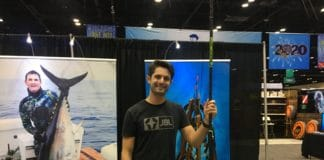 "JBL Spearguns' prototype ""Roller Pole Spear"" at DEMA Show 2019"