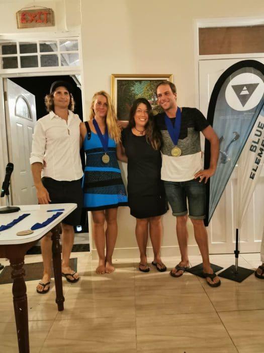 Gold medal winners Alena Konecna & Stephane Tourreau (alongside organizer Jonathan Sunnex and media chief Francesca Koe)