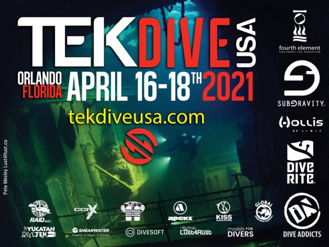 TekDiveUSA Rescheduled To April 2021
