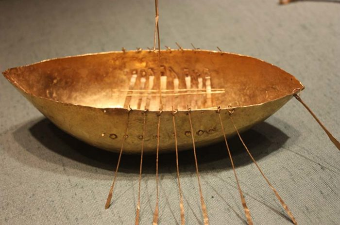 The 7-inch-long (18 cm) gold 'Broighter Boat'