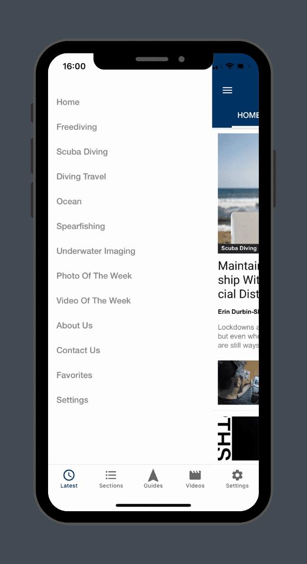 DeeperBlue.com App - Category List