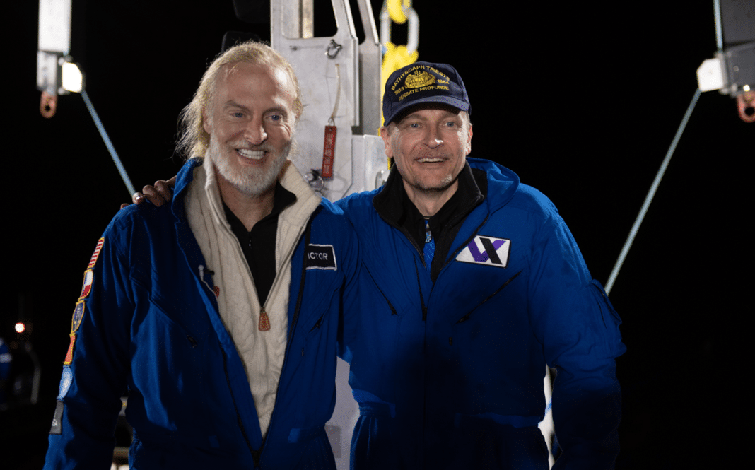 Kelly Walsh and Victor Vescovo - by MikeMoore @EYOS Expeditions