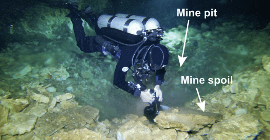 Cave Divers Discover Ancient Ochre Mine In Mexico (Image credit: Science Advances)