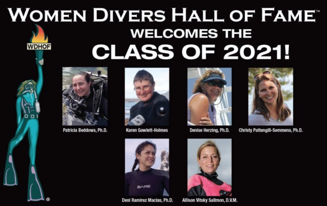 Women Divers Hall of Fame Class of 2021