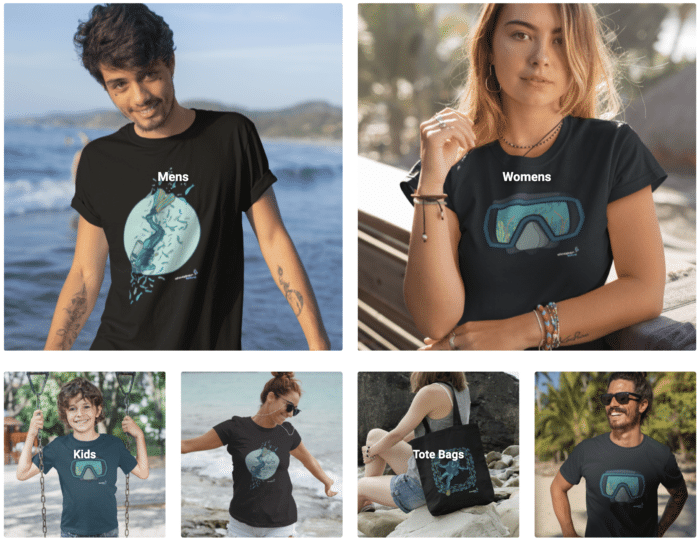 DeeperBlue Official Clothing Line Freedivers