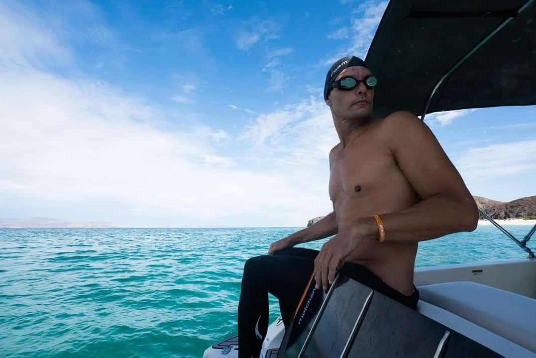 Stig Severinsen Sets New World Underwater Swimming Record (Image credit: Luke Inman)