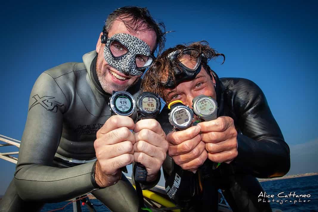 Two Divers Break No Limits Tandem Freediving World Record