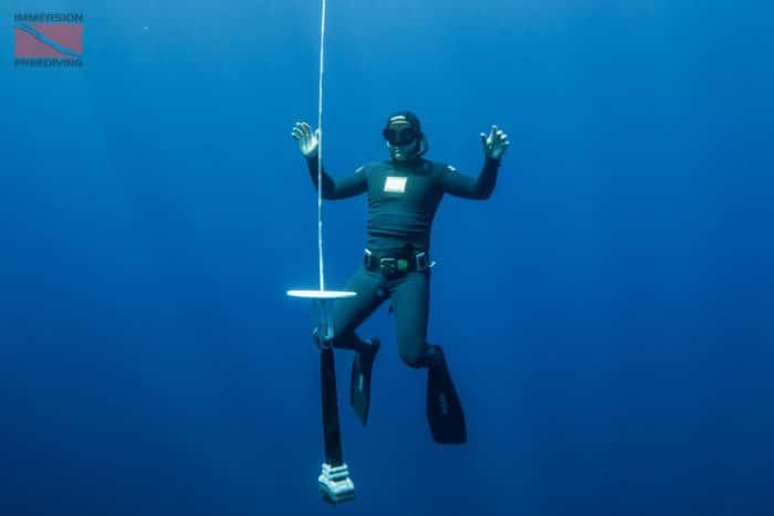 Immersion Freediving Student Underwater