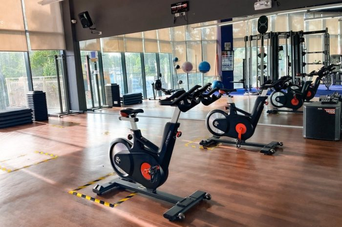 Use the bike at the gym for cardio training