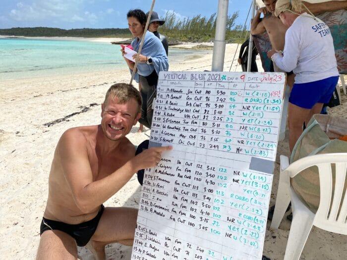 Simon is on the board! (photo © Francesca Koe)
